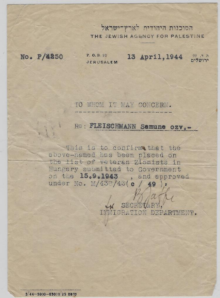 Lot 629 - judaica autographs -  Negev Holyland 94th Holyland Postal Bid Sale