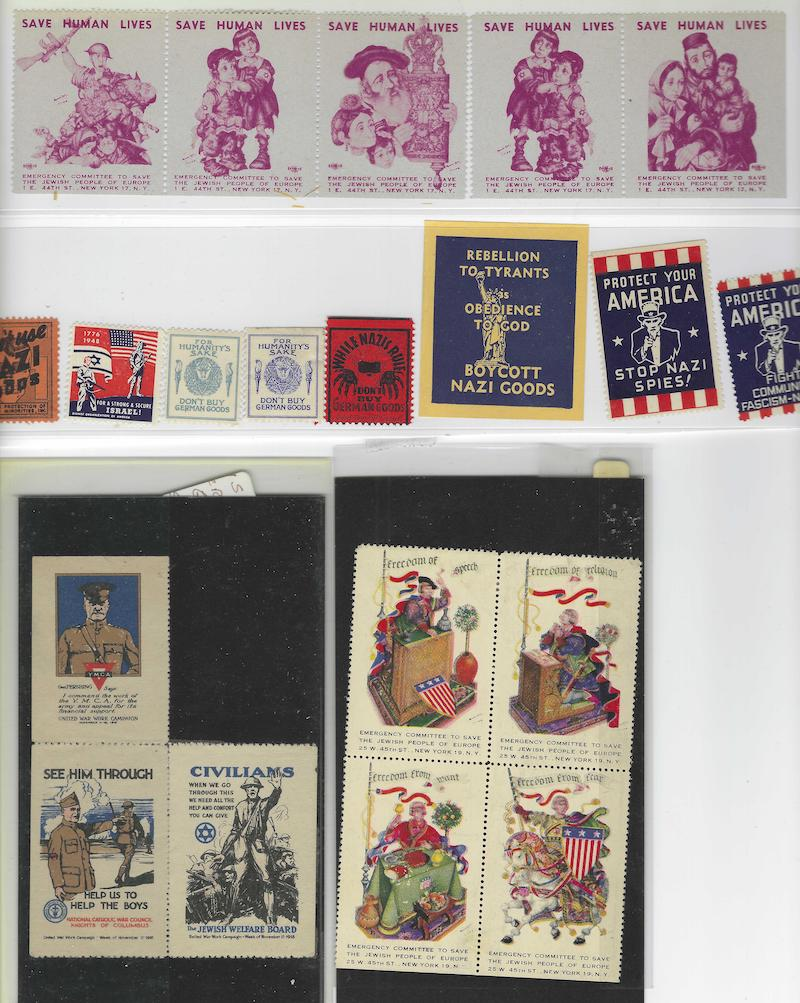 Lot 21 - judaica non JNF labels and stamps -  Negev Holyland 96h Holyland Postal Bid Sale