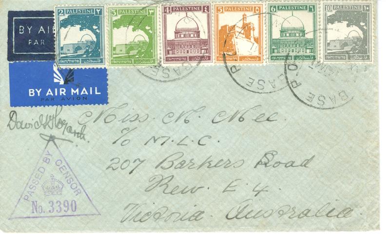 Lot 308 - EXTRA LOTS world war one -  Negev Holyland 96h Holyland Postal Bid Sale
