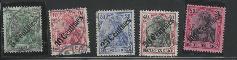 Lot 44 - ottoman period German Offices -  Negev Holyland 97th Holyland Postal Bid Sale